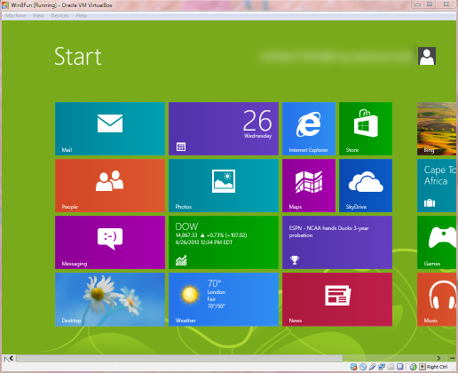 Windows 8's new Start Screen: The Metro Interface