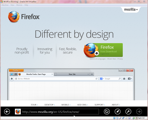 I used the new Internet Explorer to install Firefox right away.